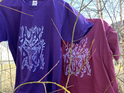 Screen-printed purple t-shirt main photo