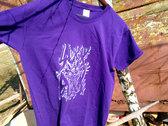 Screen-printed purple t-shirt photo