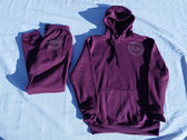 RTG Vinyl Decal Hoodie (cranberry) photo