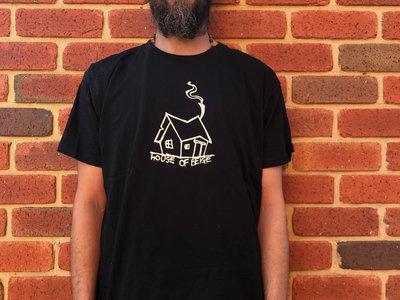 HOB big logo tee (black & beige) main photo