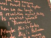 Handwritten / Signed Lyric Sheet photo
