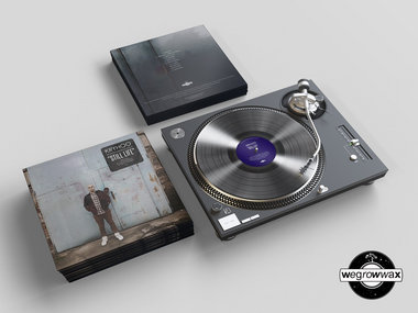 Limited Handmade Transparent 12-Inch Lathe Cut Vinyl Record main photo