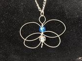 """Blue White Butterfly"" Celtic Heartstring photo"