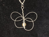 """""""White Butterfly"""" Celtic Heartstring ON SALE photo"""