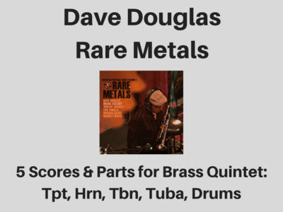 Dave Douglas | Rare Metals | 5 Scores & Parts (PDF) main photo