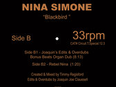 """A Special Unofficial Edits, Overdubs & Unreleased Remixed Presents: Nina Simone """" Blackbird """" 12inch Yellow Colored Vinyl Release. FIRST COME, FIRST SERVE. photo"""