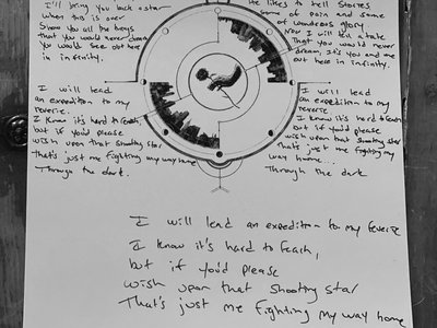 Handwritten Lyrics & Artwork for Through The Dark (single) main photo