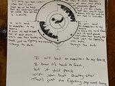 Handwritten Lyrics & Artwork for Through The Dark (single) photo