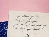Handwritten Lyrics photo