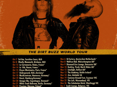 A2 Signed 'Dirt Buzz' World tour poster - HURRY ALMOST SOLD OUT!!!! main photo