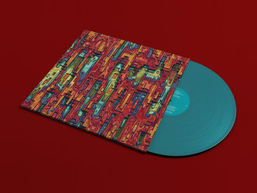 "Turquoise Solid Vinyl (12"") main photo"