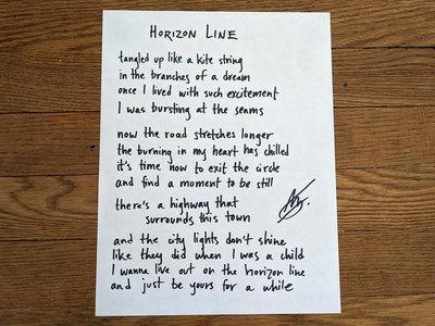 Handwritten song lyrics main photo