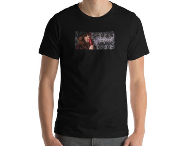 Melissa D with Red Mic T-shirt: Black (Sizes 2XL - 4XL) main photo