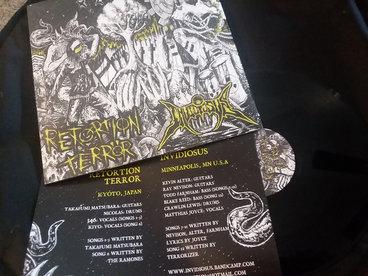 "RETORTION TERROR/INVIDIOSUS SPLIT Standard Black 12"" Vinyl main photo"