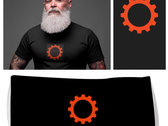 Side-Line Smaller Industrial Wheel T-shirt + FREE mouth mask photo