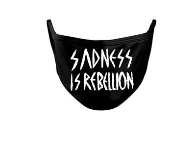 """Facial mask - Sadness Is Rebellion - If you ordered Last Thing 12"""" Vinyl on Preorder in our shop, you can buy this one without extra postage cost ! main photo"""