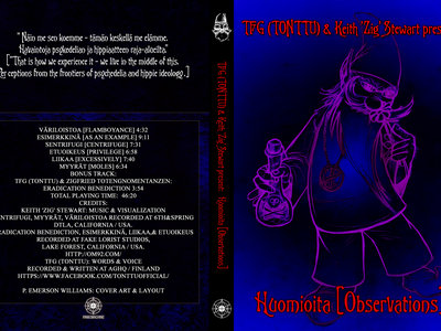 TFG (TONTTU) & Keith 'Zig' Stewart presents: Huomioita [Observations] DVD main photo