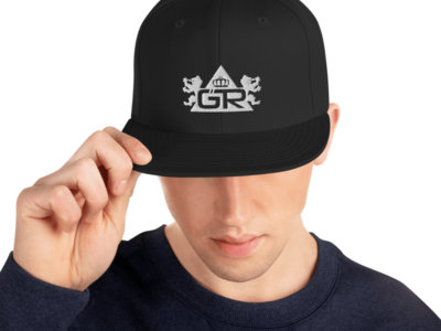 Gravitas Snapback Hat - White on Black main photo