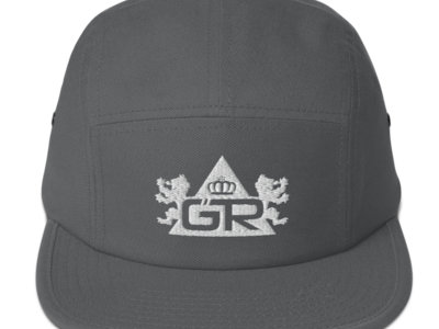 5 Stars - 5 Panel Camper - White on Charcoal Gray main photo
