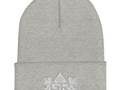 OG Beanie - White on Heather Grey main photo