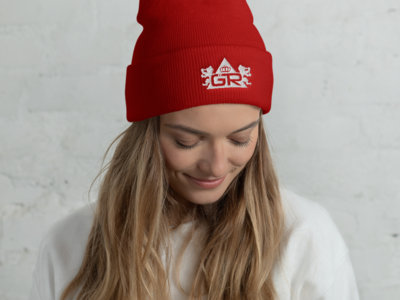 OG Beanie - White on Red main photo