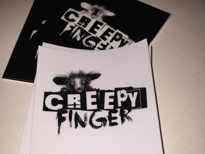 Creepy Finger Logo Sticker (x8) main photo