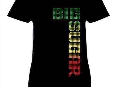 Big Sugar Ladies tri color logo black tshirt main photo
