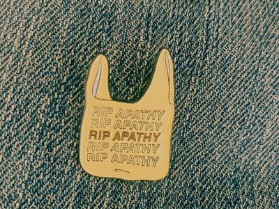 "RIP APATHY ""Plastic Bag"" Enamel Pin main photo"