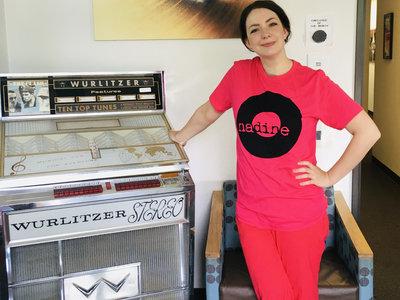 Nadine Records T-shirt (Black Ink on Hot Pink Shirt) main photo