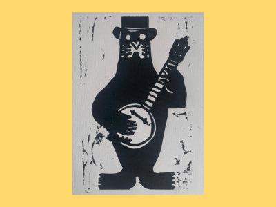 Leigh Folk Festival 2020 Linocut Print main photo