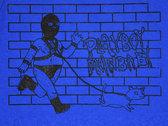 """""""Gimp Dog"""" Blue Tank Top photo"""