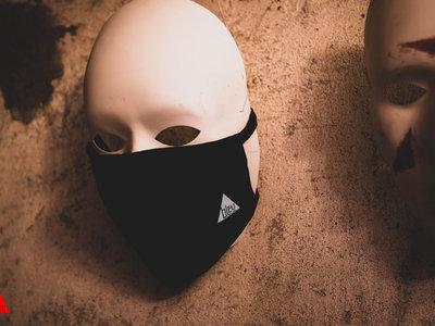Black Mask with Bleuaudio Logo White main photo