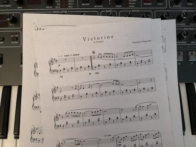 """Victorine"" Piano Sheet main photo"