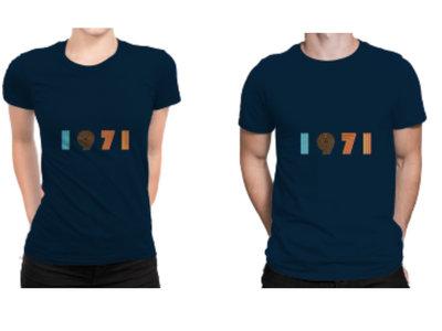 1971 Men's/Women's Deep Blue T Shirt (includes free download of the 1971 album) main photo