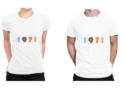 1971 Men's/Women's White T Shirt (includes free download of the 1971 album) main photo