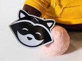Chillhop Raccoon Plushie photo
