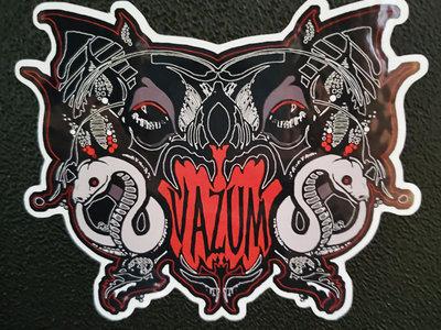 Glossy Vampire Bat Logo Vinyl Sticker main photo