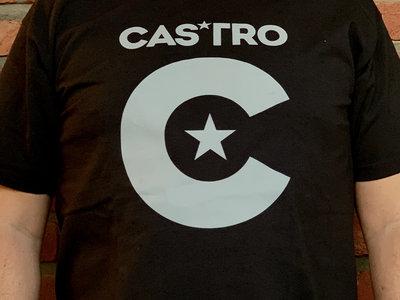 CASTRO, grey on black t-shirt. MEN main photo
