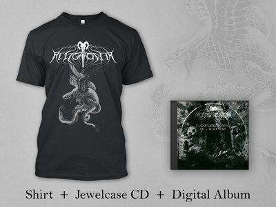 "Helzgloriam BUNDLE: Black Shirt ""Snake"" + Jewelcase CD + Digital Album ""Decapitated mystics of the serpent"" main photo"