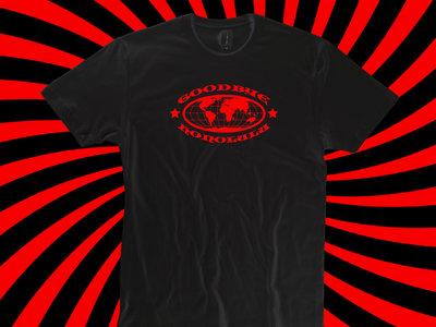 Red On Black 'Globe' T-Shirt main photo