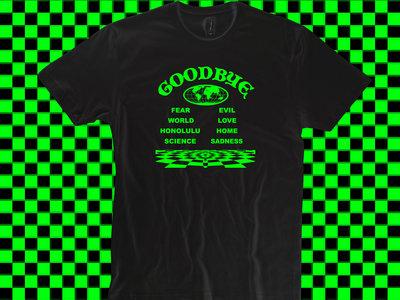 Green On Black 'Goodbye' T-Shirt main photo