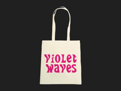Violet Waves Cotton Tote Bag main photo