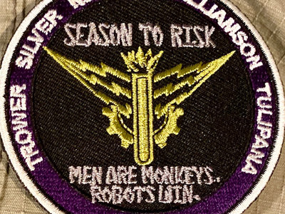 MEN ARE MONKEYS. ROBOTS  WIN. MISSION PATCH main photo