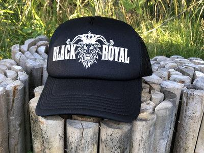 Logo snap-back trucker hat main photo