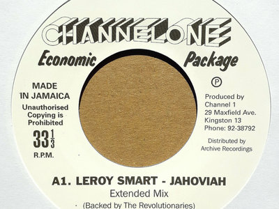 "LEROY SMART - JAHOVIAH/LITTLE JOHN - PRAY TO JAH (Channel One Economic Package 7"") main photo"