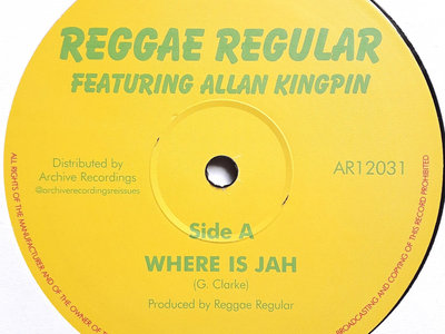 REGGAE REGULAR - WHERE IS JAH/BLACK STAR LINER 12 Inch (Extended Mixes) main photo