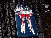 DAMIM blood hands logo pin photo