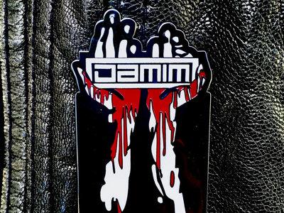 DAMIM blood hands logo pin main photo
