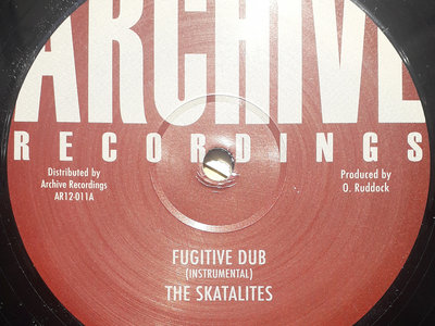 "THE SKATALITES - FUGITIVE DUB 12"" (Ex Stock Item) main photo"