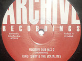 "THE SKATALITES - FUGITIVE DUB 12"" (Ex Stock Item) photo"